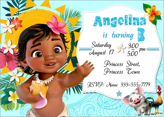 image relating to Moana Printable Invitations identified as Boy or girl Moana Invitation Youngster Moana Birthday Invitation Little one Moana Invites Boy or girl Moana Printable Invitation Little one Moana Invites Moana