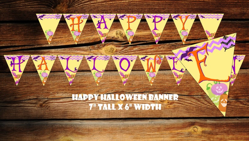 graphic relating to Printable Halloween Banners known as Halloween Banners Halloween Banner Printable Halloween Banner Halloween Celebration Decor Halloween Garland Halloween Banner Garland Halloween