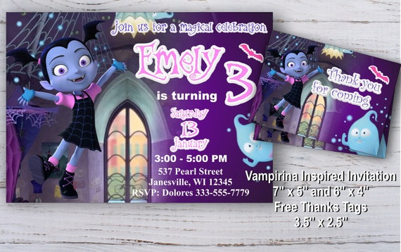 Vampirina Invitation Vampirina Birthday Invitation Vampirina