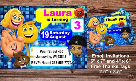 Emoji Movie Invitation Birthday