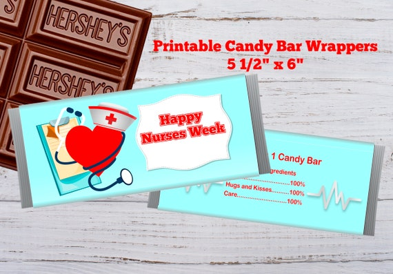 Nurse Appreciation Gift Candy Bar Wrapper with a Personalized note on back.
