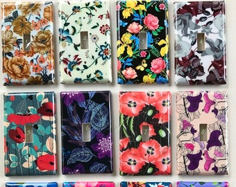 Vintage Floral Themed Light Switch and Outlet Covers
