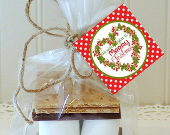 24 S'mores Wedding Favor Kits Any Tag Design