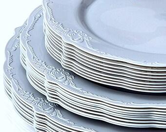 Vintage Style Modern Elegance Party Plates Grey Disposable Plates Elegant Wedding Rehearsal Plates Plastic Party Plates Stylish Party  sc 1 st  Etsy & Rehearsal plates | Etsy