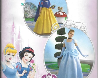 Child UNCUT Costume Cinderella and Snow White -Simplicity Costumes 2817- Dated 2006-Size K5 7 8 10 12 14*
