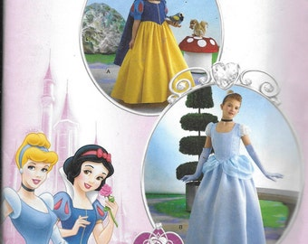 Child UNCUT Costume Cinderella and Snow White -Simplicity Costumes 2817- Dated 2006-Size HH 3 4 5 8*
