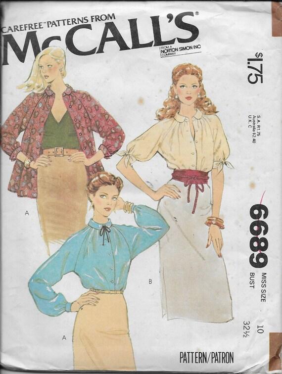 Estilos de blusas /Tops 3 de Vintage patrón pierde Mangas | Etsy