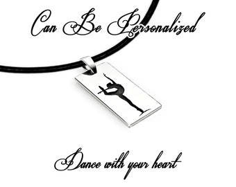 Gymnastics Ballet Dance Silver necklace Personalized jewelry 21st birthday Anniversary gifts Gift for women Sister gift 30th birthday