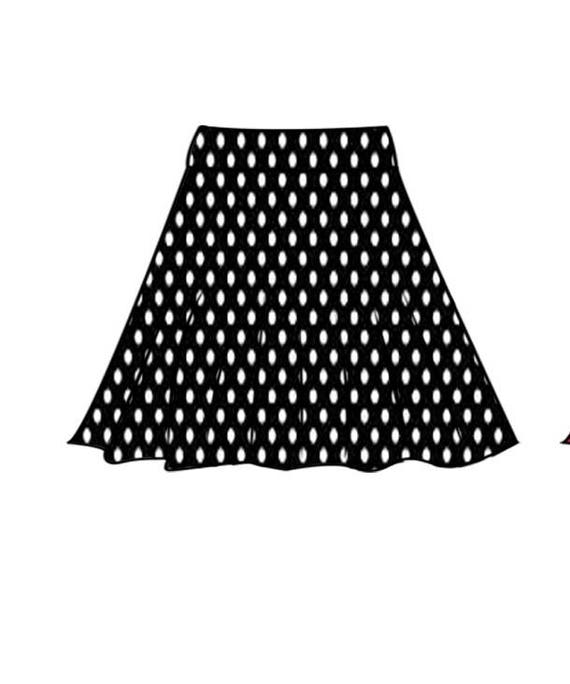 PDF skirt sewing pattern for woman.stretchy skirt 32-40 and | Etsy