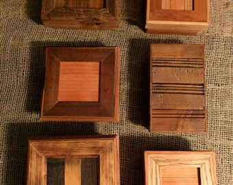 """Custom and One-of-a-Kind Reclaimed Wood Box Approx 5""""x5""""x3"""""""