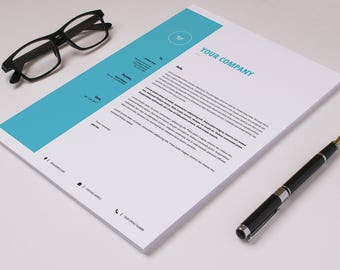 Corporate letterhead template business letterhead company etsy letterhead template business letterhead printable photoshop template instant download v09 maxwellsz