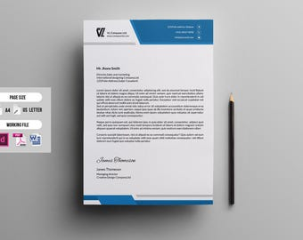 letterhead template etsy