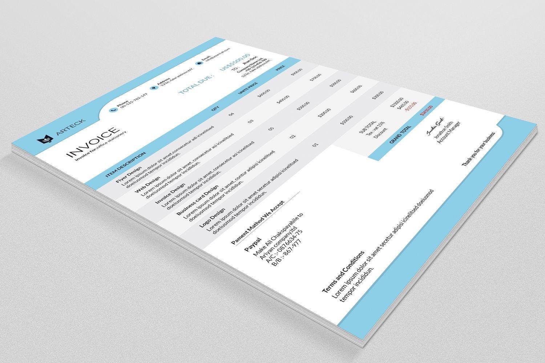 Factura multipropósito | Factura plantilla, factura de negocio ...