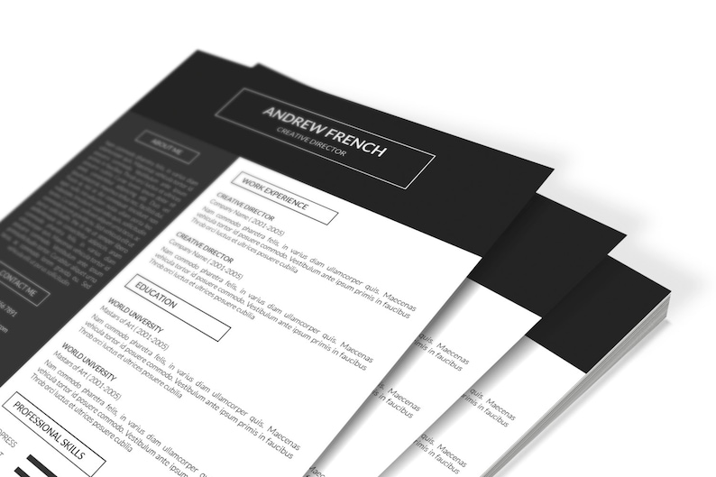 SALE Cv Design Instant Download CV-21 Resume Template for Word and Photoshop Professional Cv Template