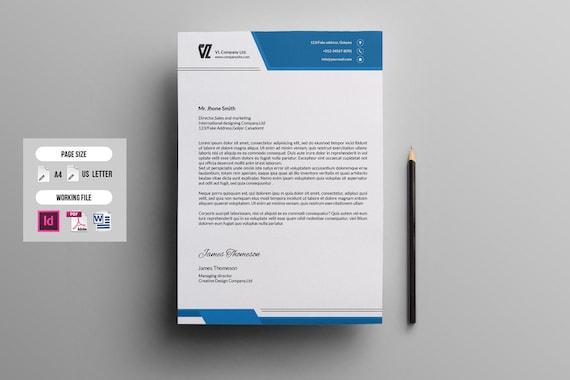 letterhead template corporate letterhead multipurpose etsy
