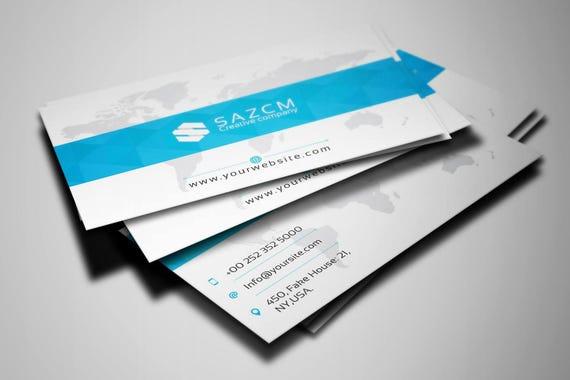 Professionelle Visitenkarten Vorlage Corporate Business Card Photoshop Indesign Und Illustrator Vorlage Instant Download V03