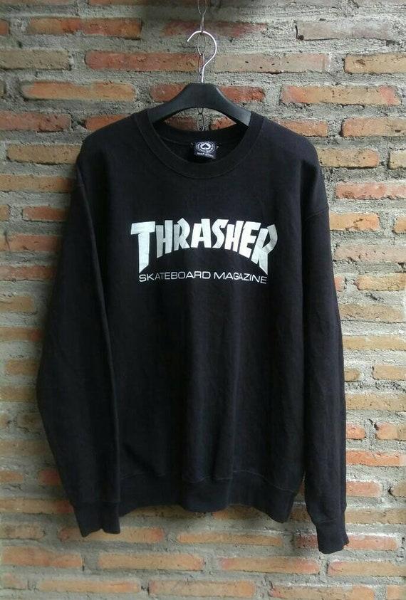 THRASHER Sweatshirt Crewneck Logo Mens Small US. T