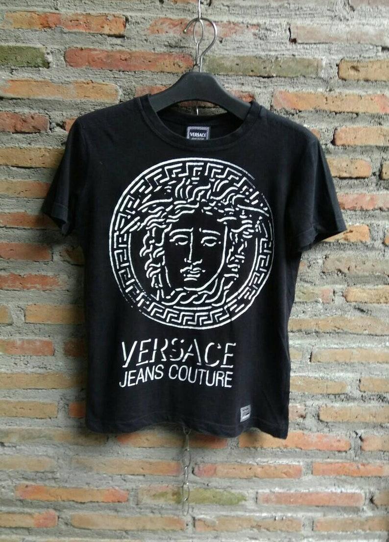 534a39d8 Versace Jeans Couture Medusa Head Women's Tshirt XS Size | Etsy