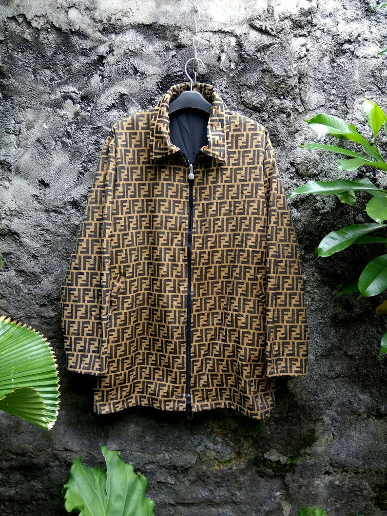 41b8332a SOLD OUT !!! FENDI Zucca Monogram Reversible Coat Jacket for Unisex  Embroidery. Made in Italy