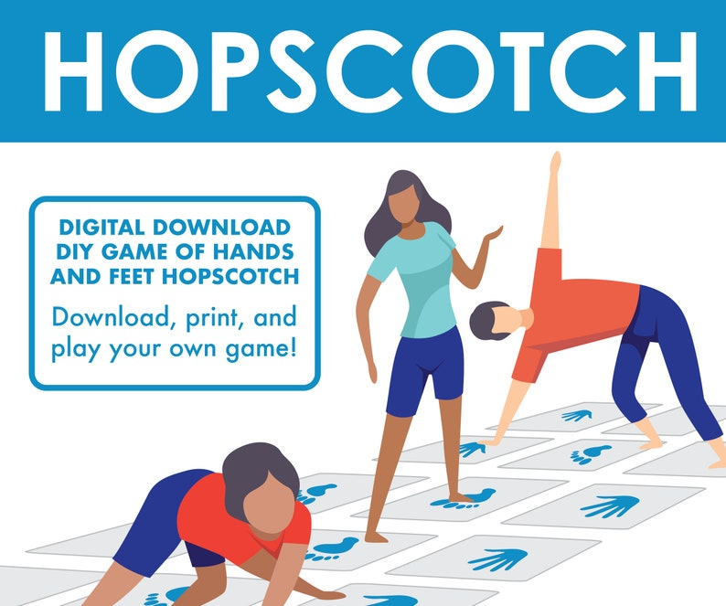 Hopscotch Hands and Feet Game Interactive Party Board Game image 0