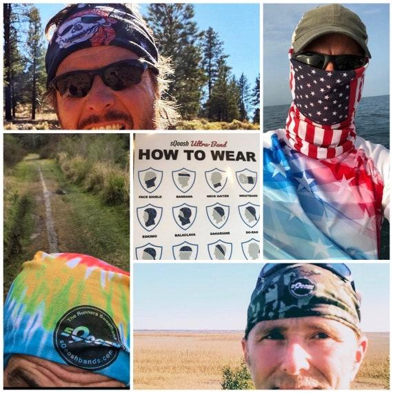 Headband, UltraBand, tubular, bandana, scarf, head gear, best sweatband, coldgear, running, cap, runs, fishing, hunting, outdoor