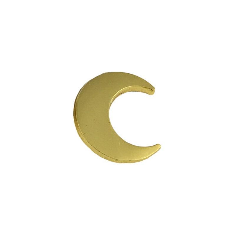 77f5b9c5154e Killer Filler Gold Moon Small Lapel Pin Tiny Silhouette | Etsy