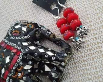 Boho Earrings,Handmade,Dangle earrings,Gift for Her, Mothers day gift,Bollywood ,Chandeliers,drop earrings,tassels,tribal,turquoise,wedding