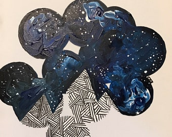 Starry Sky  - Original Acrylic Painting on canvas