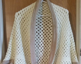 Granny Square Cocoon Cardigan - Ladies