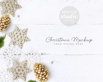 Download Free Christmas Scene Mockup, Christmas Ice stars Mockup, Christmas theme Mockup, Styled Photography Mockup, Cards Mockup (2017Bis.Christm) PSD Template