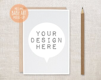Download Free Card and Envelope Mockups, 5x7 Card Mockup, Styled Photography Mock Up, Neutral Invitation Mockup (11.Card) PSD Template