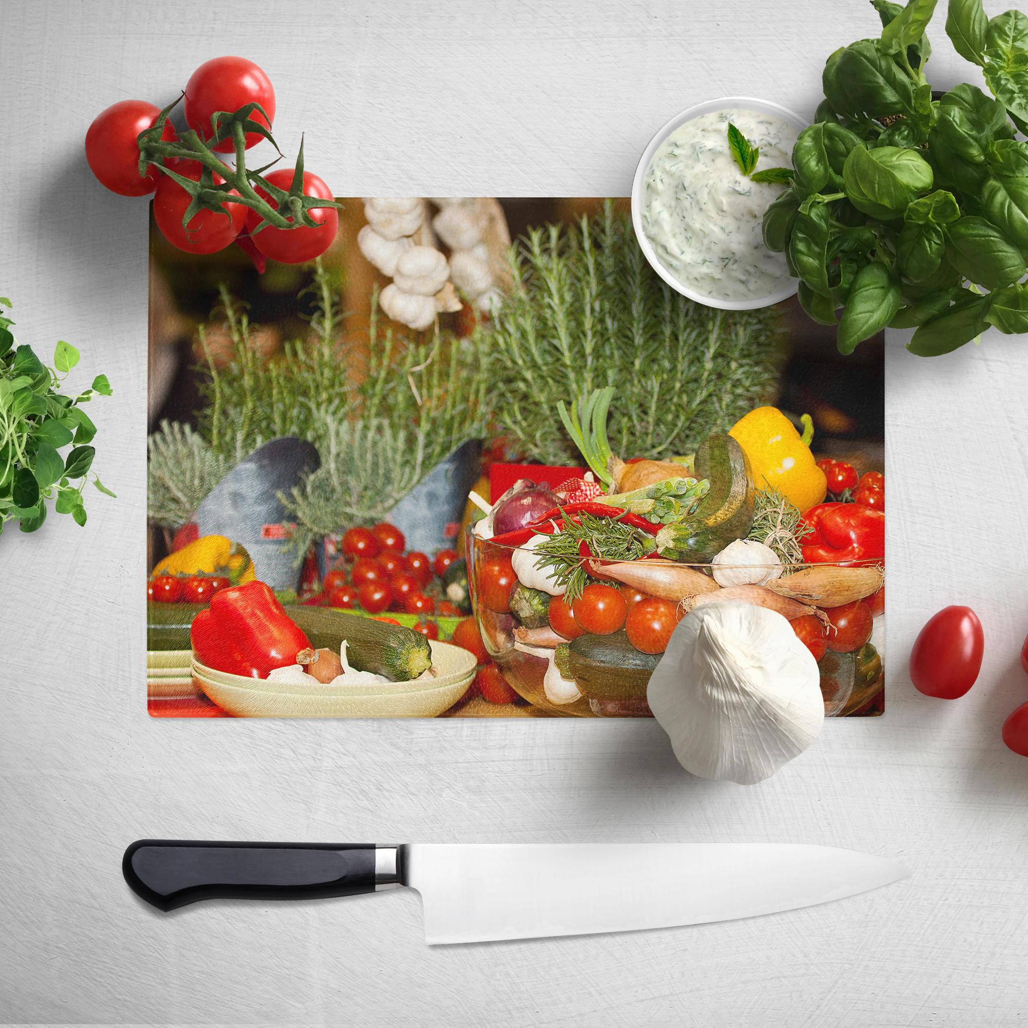 Cutting Board //Counter Saver // Chopping Board Large 28.5cm x 39cm Sugar Skull