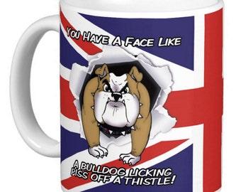 Union Jack, British Flag, Very Rude Mug, British Bulldog , Gift Mug
