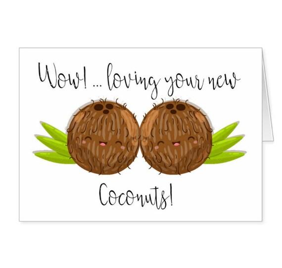 Boobs Breast Surgery Fun Boob Job Card With a Nice new pair of .. Boob Job Knockers