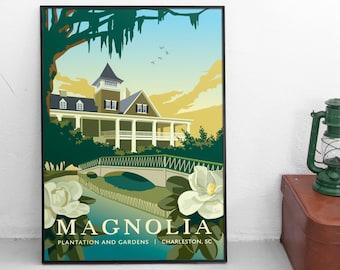 Magnolia Plantation, Charleston SC   Travel Poster   Unframed