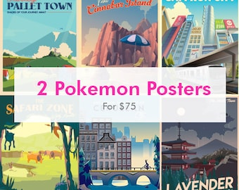 picture relating to Pokemon Posters Printable named Pokemon poster Etsy