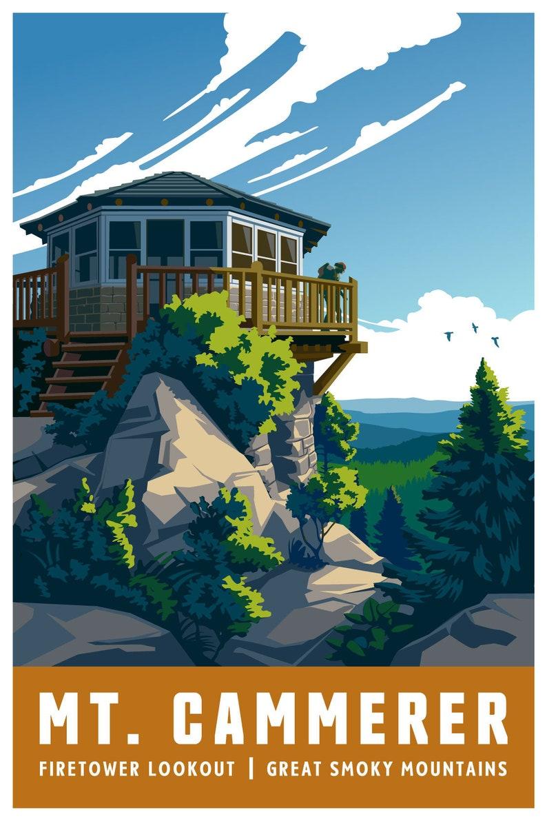 Mt Unframed Cammerer Firetower Art Print