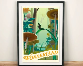 Wonderland Forest, Alice in Wonderland | Poster | Unframed