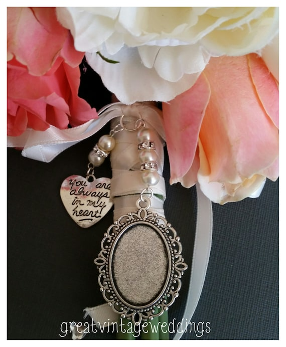 Beautiful Wedding Bouquet Photo Charm Silver Photo Frame Etsy
