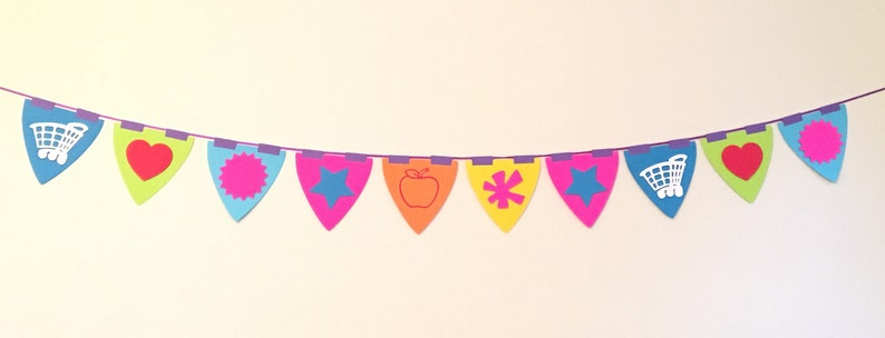PINK HEARTS HAPPY BIRTHDAY  PARTY BUNTING FLAG BANNER FOR BIRTHDAY PARTIES!