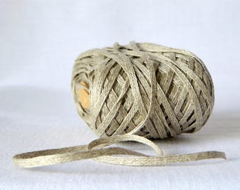 Habu Textiles Knitted Linen Tape for knitting, weaving, crochet. Habu yarn N-98