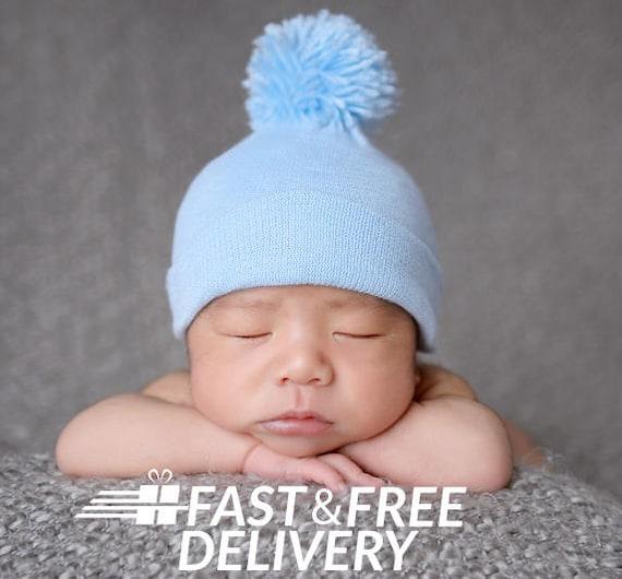 Melondipity BABY BOY HAT newborn baby boy hospital hat newborn  0fa6ca2e66e