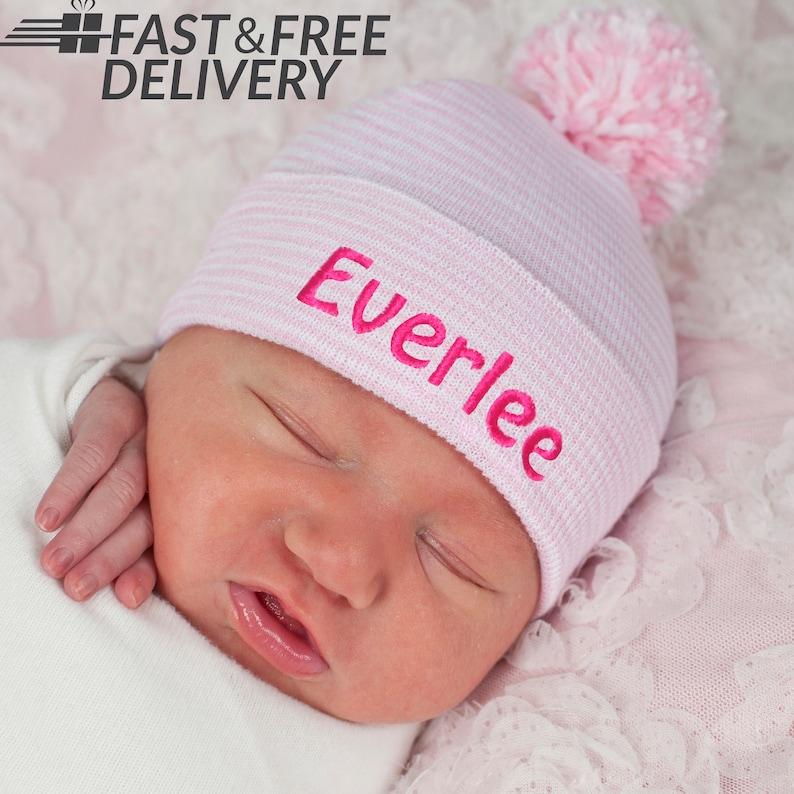 Personalized newborn hat Newborn hat newborn girl baby girl  2a78f757e69
