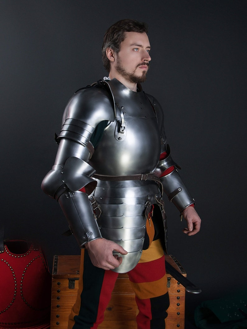 Jousting Knight medieval full-plate armor set larp sca HEMA kit Reenactment  fencing set