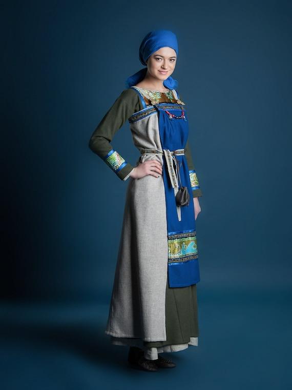 Women's viking clothing - Renaissance women tunic - Italian dress - Sca  larp hema ladies dress