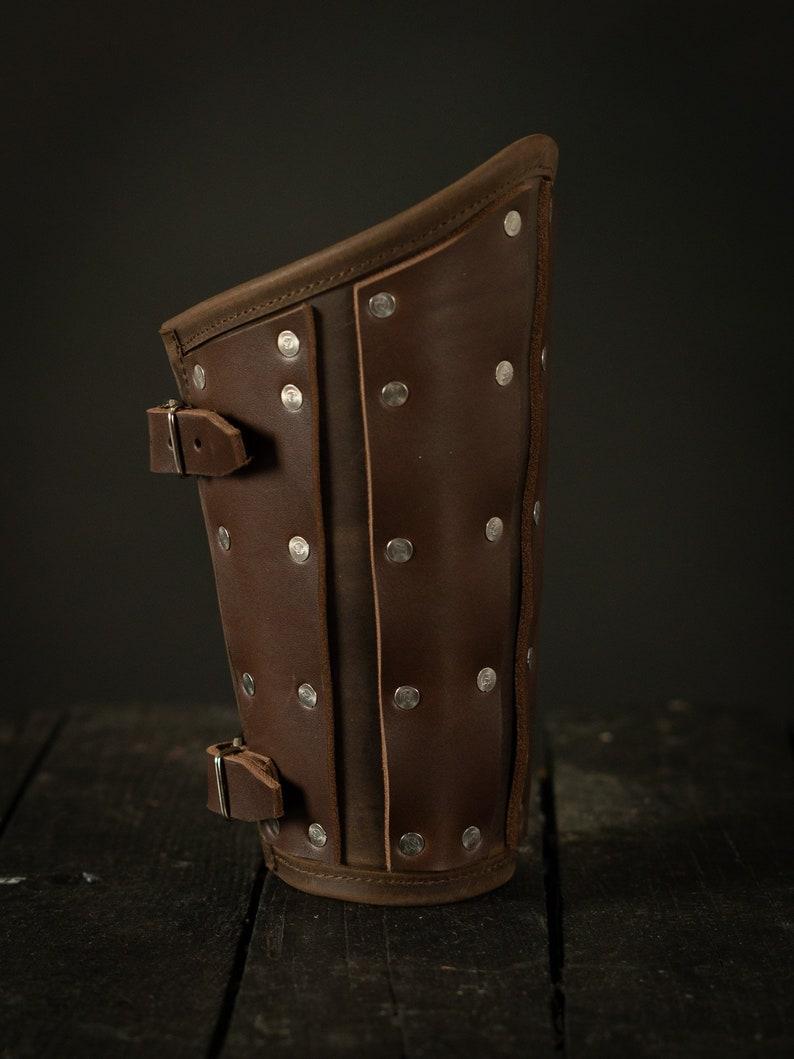 Medieval Renaissance Red Leather Fleur de Lis War Belt sca//larp//french//knight