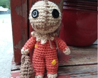 Sam trick r' treat, Sam Halloween Crochet, Sam Halloween Plush, Amigurumi Sam Halloween, Halloween Decor