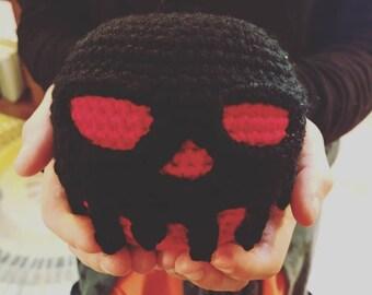Crochet Poison Apple plush, poison apple doll, Amigurumi apple, fairy tale cosplay, black poison apple, Halloween decorations and costume