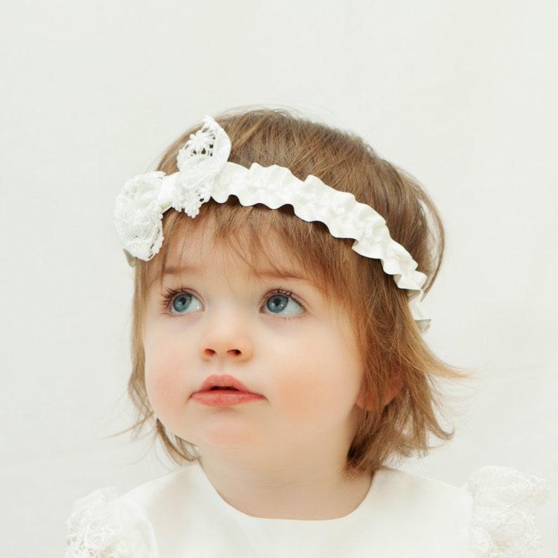 f3171ed1cc4f40 Taufe Stirnband Baby Stirnband Taufe Stirnband Segen | Etsy
