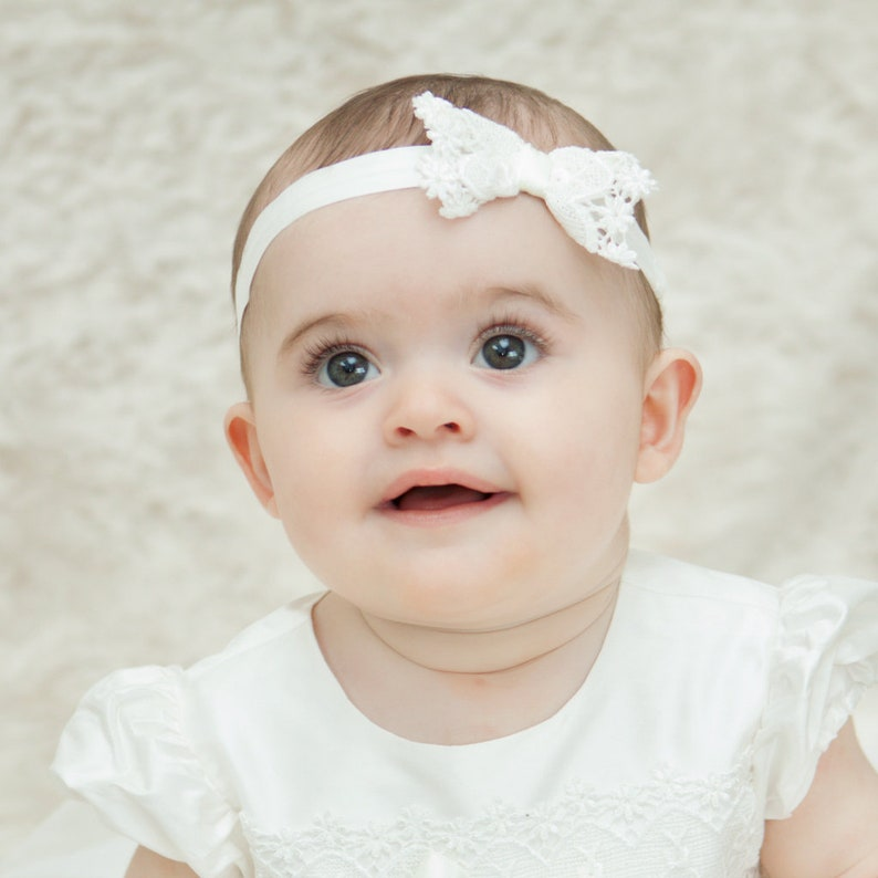 1b1ce12108028b Stirnband Baby-Stirnband Taufe Stirnband Segen Stirnband | Etsy